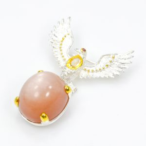 sunstone-brooch